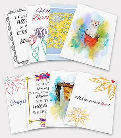 8 Printable Greeting Cards