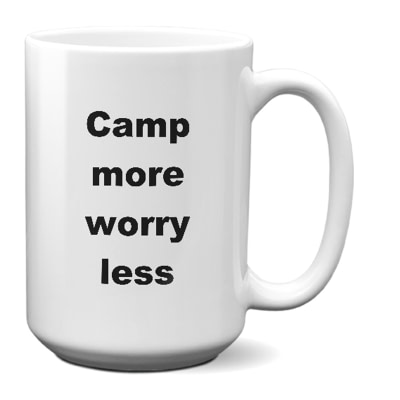Camping Coffee Mug – Camp More Worry Less