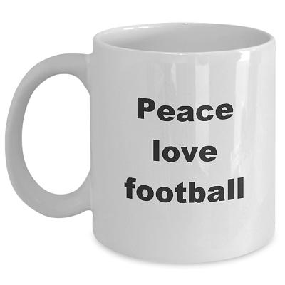 Football Coffee Mug – Peace Love Football