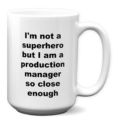 Personalized Production Manager Mug – Superhero