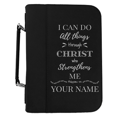 I Can Do All Things Through Christ Personalized Bible Covers