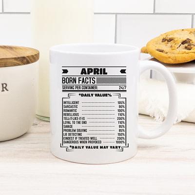 Personalized Coffee Mug – Birthday Born Facts Black