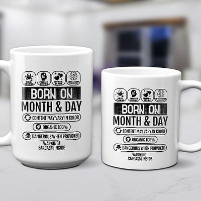 Personalized Mug – Born On Birthday Traits