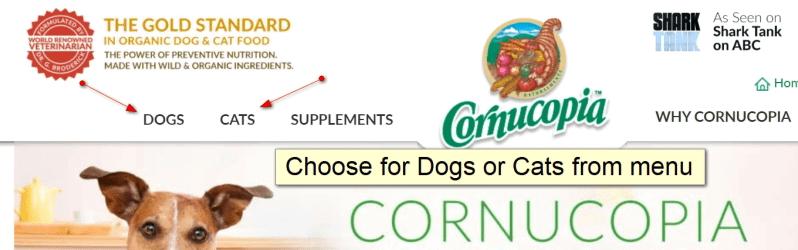 How to order Cornucopia Step 2