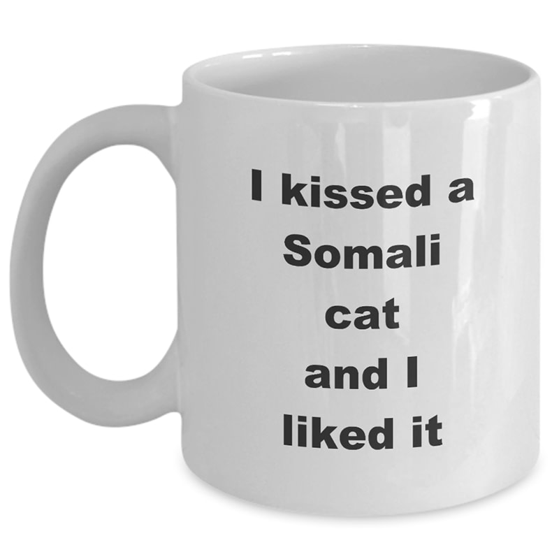 Somali Cat Mug – I Kissed A Somali Cat And I Liked It