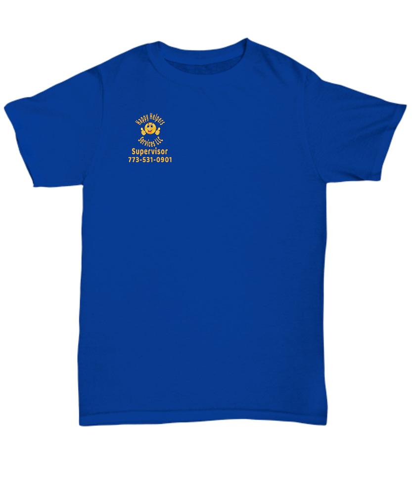 Happy Helpers Unisex Supervisor T-shirt
