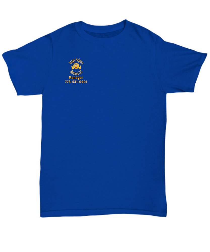 Happy Helpers Unisex Manager T-shirt